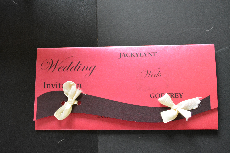 I do. I do. I do. I do. An African wedding. Well, eleven actually ...